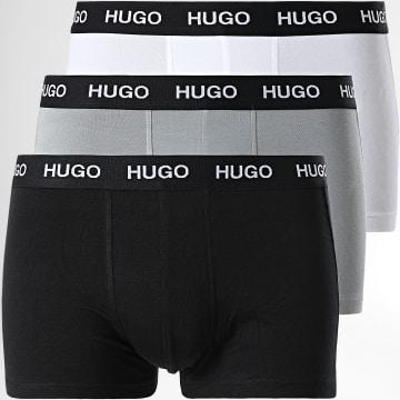 HUGO - Lot De 3 Boxers 50449351 Noir Blanc Gris