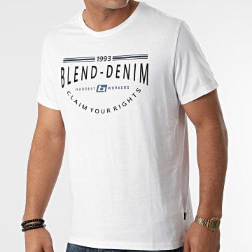 Blend - Tee Shirt 20712780 Blanc