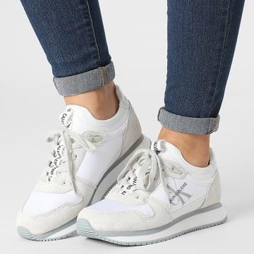Calvin Klein - Baskets Femme Runner Lace Up Sneaker Sock 0462 Bright White