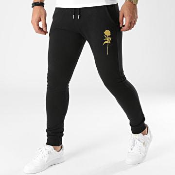 Luxury Lovers - Pantalon Jogging Rose Noir Doré