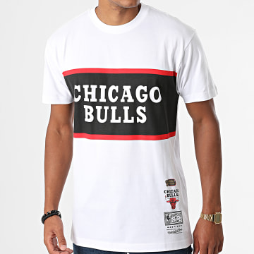 Mitchell and Ness - Tee Shirt Chicago Bulls Block Blanc