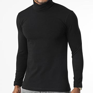 Uniplay - Tee Shirt Manches Longues Col Roulé UY720 Noir