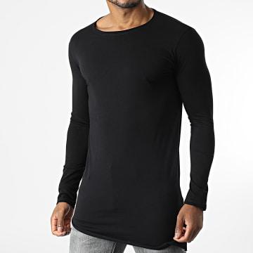 Uniplay - Tee Shirt Oversize Manches Longues KXT-3410 Noir