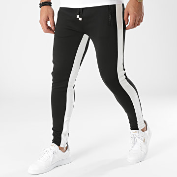 Uniplay - Pantalon Jogging A Bandes PG-01 Noir