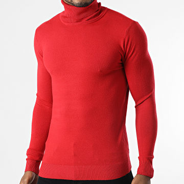 Uniplay - Pull Col Roulé CR-08 Rouge