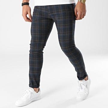 Classic Series - Pantalon A Carreaux 3368 Bleu Marine