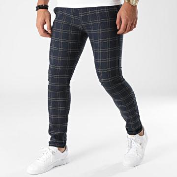 Classic Series - Pantalon A Carreaux 3361 Bleu Marine