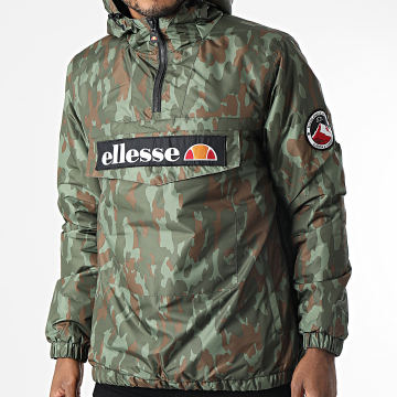 Ellesse - Veste Outdoor A Capuche Monterini SHK08149 Vert Kaki Camouflage