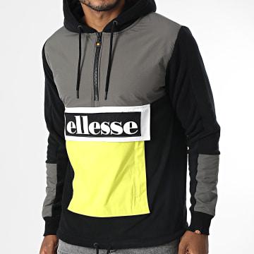 Ellesse - Veste Outdoor A Capuche Periodic SHK12272 Noir Gris Jaune Fluo