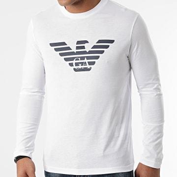 Emporio Armani - Tee Shirt Manches Longues 8N1TN8-1JPZZ Blanc