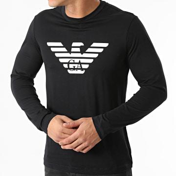 Emporio Armani - Tee Shirt Manches Longues 8N1TN8-1JPZZ Bleu Marine