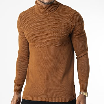 Only And Sons - Pull Col Roulé Bace Camel