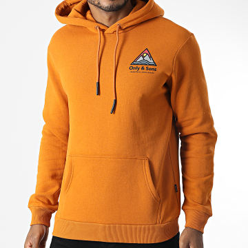 Only And Sons - Sweat Capuche Ben Life Orange