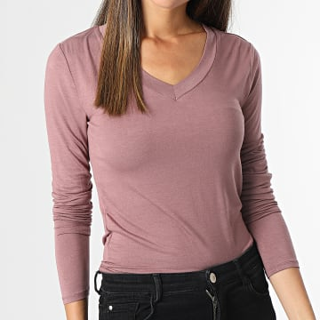 Only - Top Femme Manches Longues Sandy Rose