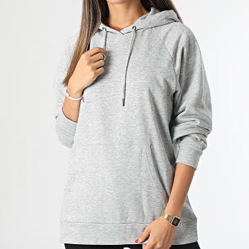Only - Sweat Capuche Femme Naja Life Gris Chiné