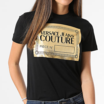 Versace Jeans Couture - Tee Shirt 71HAHT14-CJ00T Noir Doré
