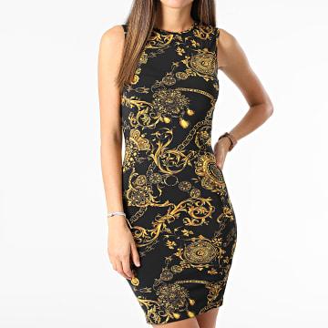 Versace Jeans Couture - Robe Femme Print Baroque Bijoux Noir Renaissance