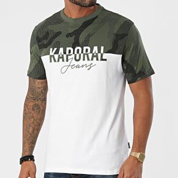Kaporal - Tee Shirt Ramo Blanc Vert Kaki Camouflage
