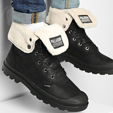 Palladium - Boots Baggy Leather Essential WPS 77168 Black Black
