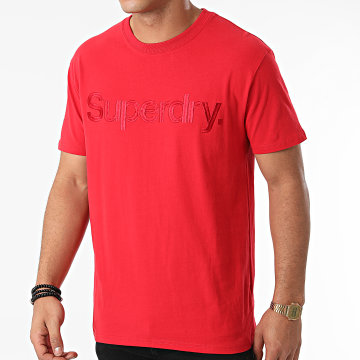 Superdry - Tee Shirt M1011213A Rouge