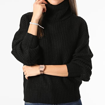 Only - Pull Femme Crop Justy Noir