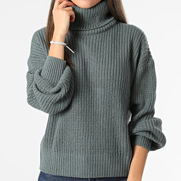 Only - Pull Col Roulé Femme Cory Justy Vert