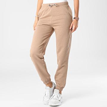 Only - Pantalon Jogging Femme Naja Marron