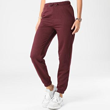 Only - Pantalon Jogging Femme Naja Bordeaux
