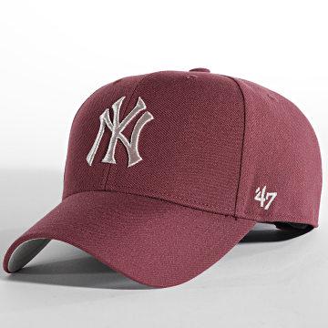 '47 Brand - Casquette MVP Adjustable New York Yankees Bordeaux