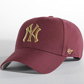 '47 Brand - Casquette MVP Adjustable New York Yankees Bordeaux Doré