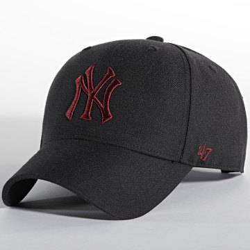 '47 Brand - Casquette MVP Adjustable New York Yankees Noir Bordeaux
