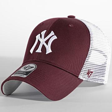 '47 Brand - Casquette MVP Adjustable New York Yankees Bordeaux Blanc