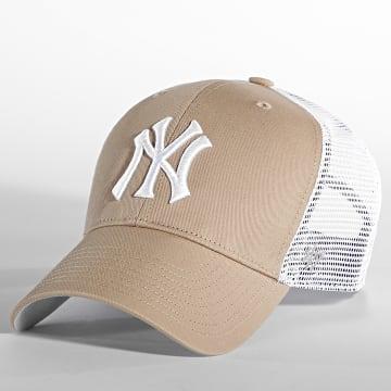 '47 Brand - Casquette Trucker MVP Adjustable New York Yankees Beige Blanc