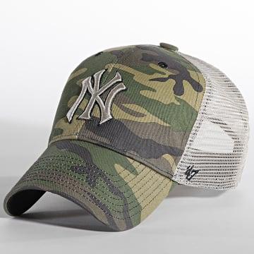'47 Brand - Casquette Trucker MVP Adjustable New York Yankees Camouflage Vert Kaki