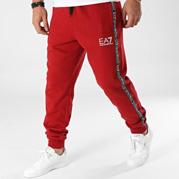 EA7 Emporio Armani - Pantalon Jogging A Bandes 6KPP61-PJ07Z Bordeaux