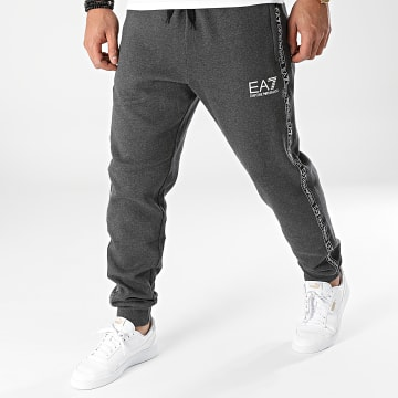 EA7 Emporio Armani - Pantalon Jogging A Bandes 6KPP61-PJ07Z Gris Anthracite Chiné