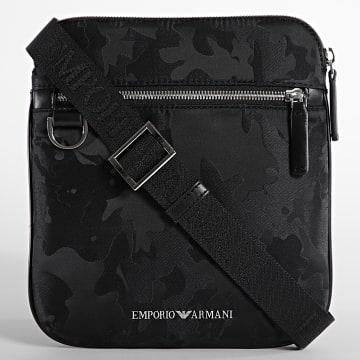 Emporio Armani - Sacoche Flat Messenger Y4M185 Noir
