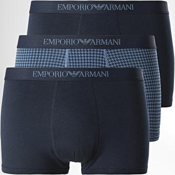 Emporio Armani - Lot De 3 Boxers 111625-1A722 Bleu Marine
