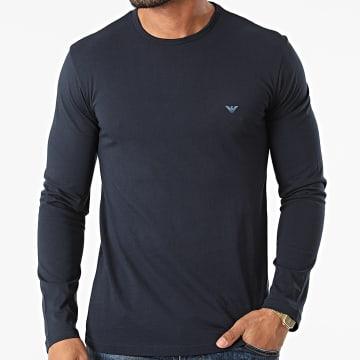 Emporio Armani - Tee Shirt Manches Longues 111653-1A722 Bleu Marine