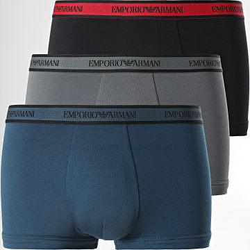 Emporio Armani - Lot De 3 Boxers 111357-1A717 Bleu Marine Noir Gris