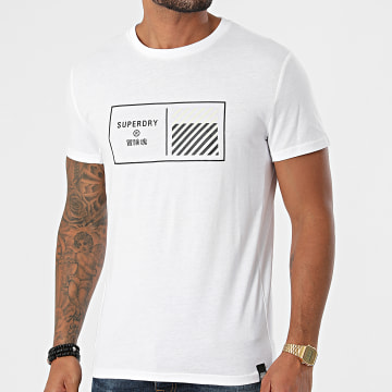 Superdry - Tee Shirt Train Core Graphic MS310944A Blanc