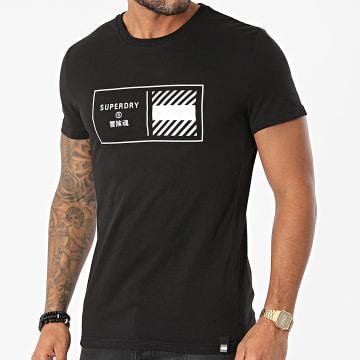 Superdry - Tee Shirt Train Core Graphic MS310944A Noir