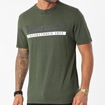 Timberland - Tee Shirt A2BV6 Vert Kaki