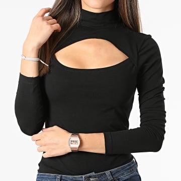 Urban Classics - Tee Shirt Manches Longues Femme TB4513 Noir