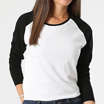 Urban Classics - Tee Shirt Manches Longues Femme TB4539 Blanc Noir