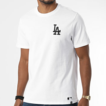 '47 Brand - Tee Shirt Los Angeles Dodgers Embroidery Southside Blanc