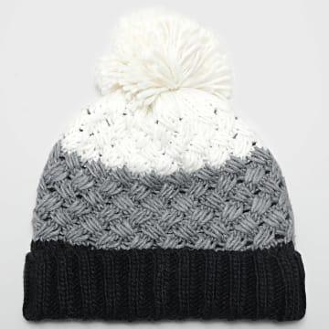 Deeluxe - Bonnet Mivo Blanc Gris Blanc