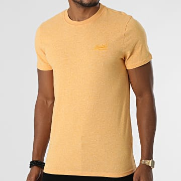 Superdry - Tee Shirt Vintage Logo Embroidery M1011245A Jaune Chiné