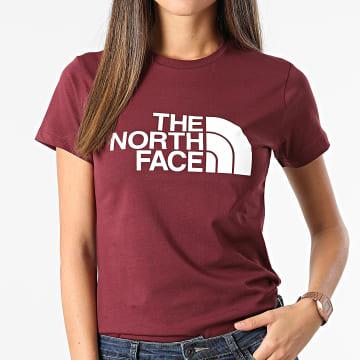 The North Face - Tee Shirt Femme Easy Bordeaux