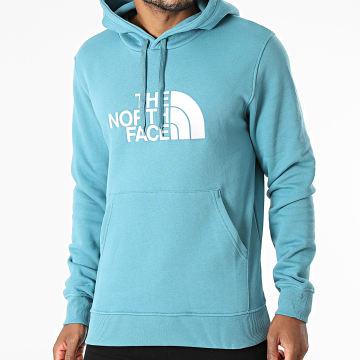 The North Face - Sweat Capuche Drew Peak Bleu Clair